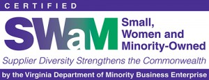 SWaM Small, Women and Minority-Owned Company Certified Logo