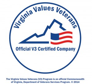 V3 Virginia Values Veterans Official Certified Company Logo